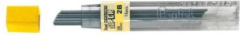 , Potloodstift Pentel 0.9mm zwart per koker 2B