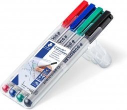 , Viltstift Staedtler Lumocolor 311 non permanent S set à 4 assorti