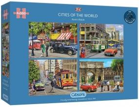Gib-g5044 , Puzzel gibsons cities of the world 4x500 stukjes elk 48x34xm