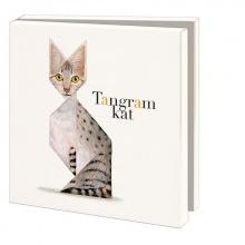Wmc791 , Notecards met env 10 st 15x15 cm tangram kat