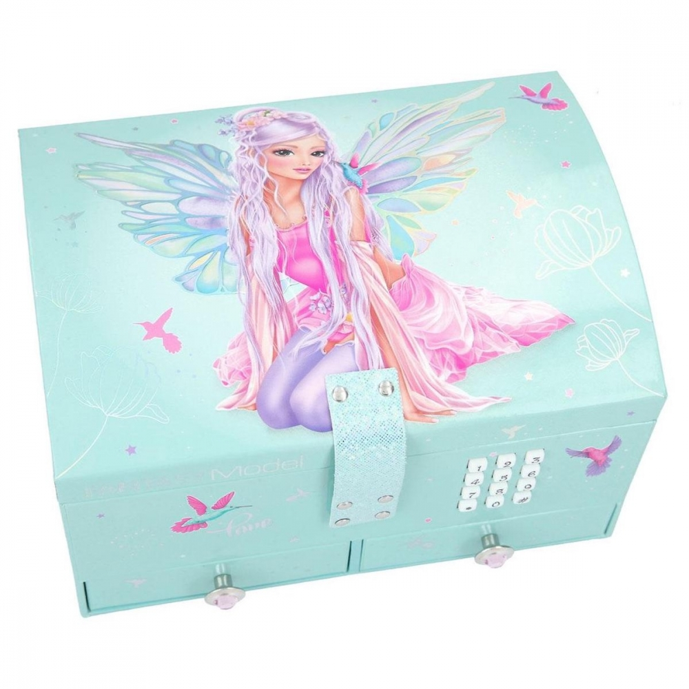 ,Fantasymodel sieradendoos met code en geluid fairy