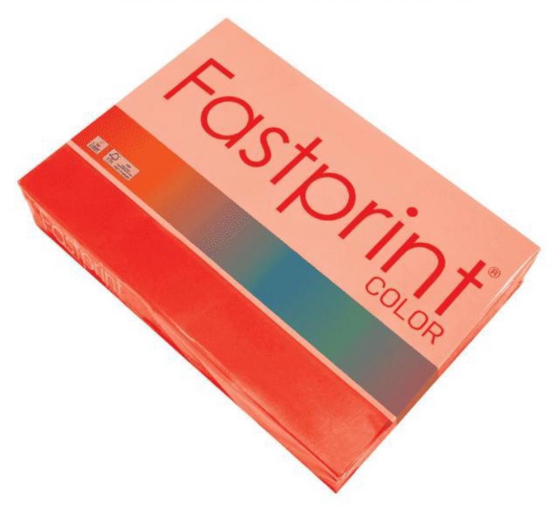 ,Kopieerpapier Fastprint A4 80gr felrood 500vel