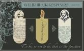 Mos-82754 , Magnetische boekenlegger set 3 stuks shakespeare