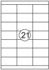 , Etiket Quantore 70x38.1mm 2100stuks