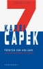 Karel Capek, ,Prenten van Holland