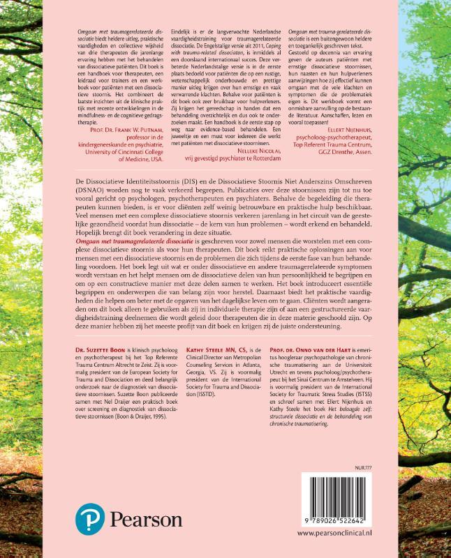 Suzette Boon, Kathy Steele, Onno van der Hart,Omgaan met traumagerelateerde dissociatie