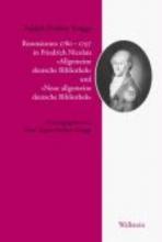 Knigge, Adolph Freiherr Rezensionen 1779-1797 in Friedrich Nicolais »Allgemeine deutsche Bibliothek« und »Neue allgemeine deutsche Bibliothek«