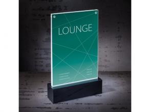 , Tafelstandaard Sigel LED verlicht A5 150x250x45