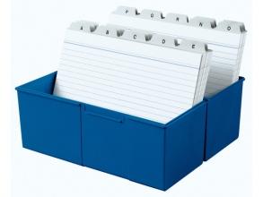 , kaartenbak HAN breed A5 kunststof blauw