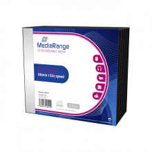 , CD-R MediaRange 700MB|80min 52x speed, Slimcase a 10 stuks