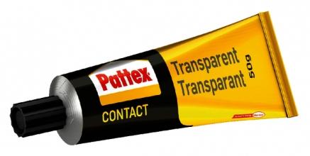 , Contactlijm Pattex transparant tube 50gram op blister