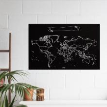 , Wereld Krijtkaart 90 x 60cm
