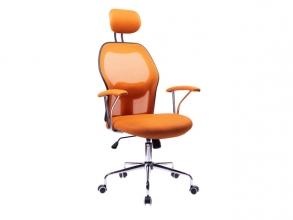 , Moderne bureaustoel, Kangaro. In hoogte verstelbaar, in     oranje/zwarte uitvoering