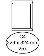 , Envelop Quantore akte C4 229x324mm zelfklevend wit 25stuks