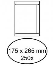 , Envelop akte 175x265mm zelfklevend 100gr wit 250stuks