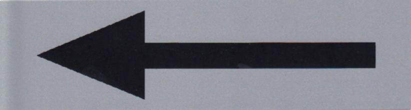 , Infobord pictogram pijl 165x44mm