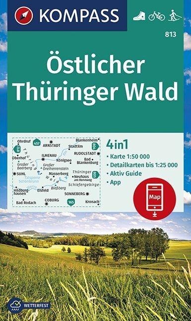 ,Östlicher Thüringer Wald 1:50 000
