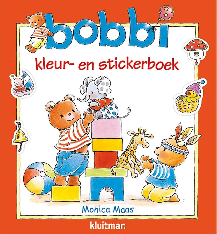 Monica Maas,Bobbi kleur- en stickerboek