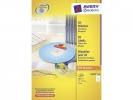,CD etiket Avery 117mm classic size 100 vel 2 etiketten per  vel wit