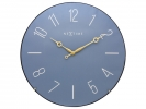 ,Wandklok NeXtime dia. 35 cm, bol glas, blauw, `Trendy Dome`
