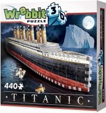 W3d-1014 , Puzzel 3d wrebbit titanic 440 stukjes