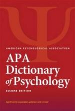 American Psychological Association APA Dictionary of Psychology