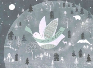 Evening Dove Deluxe Boxed Holiday Cards
