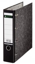 , Bankordner Leitz A4 75mm 2 mechanieken karton zwart