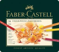 Fc-110024 , Faber-castell kleurpotloden polychromos 24 st