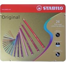 , Kleurpotloden STABILO Original blik à 24 kleuren
