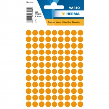 , Etiket Herma 1844 rond 8mm fluor oranje 540stuks