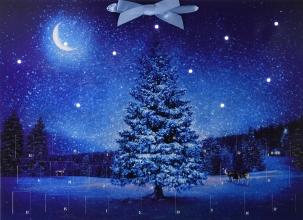 , Wand-Adventskalender mit Licht - Winterzauber
