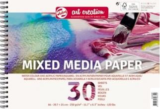 9312002m , Talens art creation mixmedia spiraalblok 30 vel