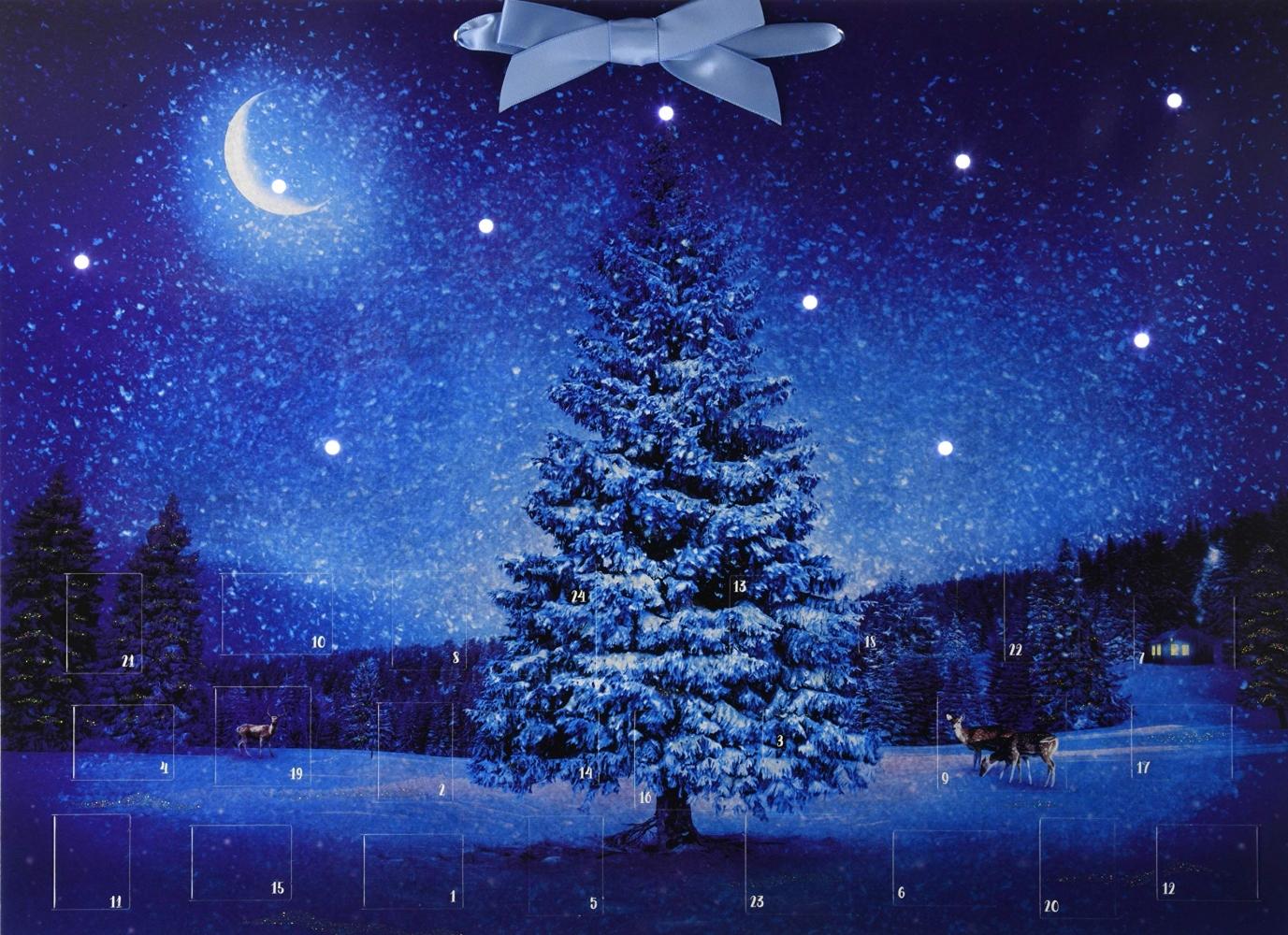 ,Wand-Adventskalender mit Licht - Winterzauber