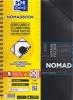 , Nomadboek Oxford A4+ 4gaats Lijn 80v 90gr Ass