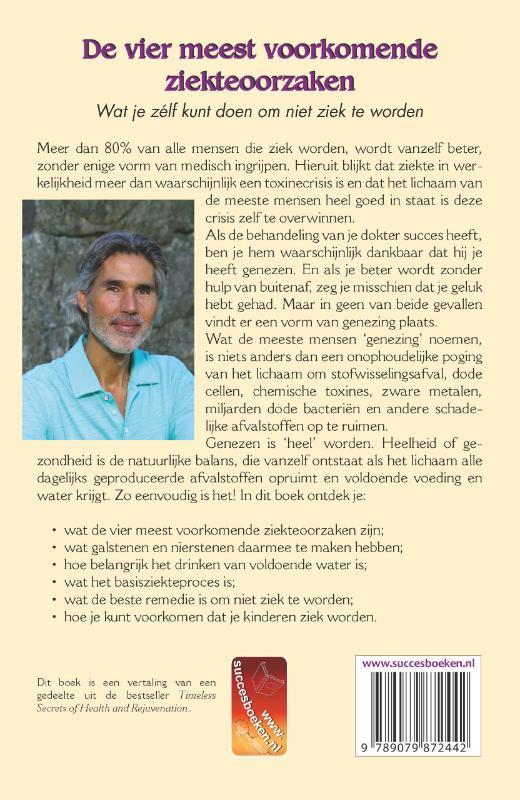 Andreas Moritz,De vier meest voorkomende ziekteoorzaken