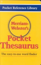 Merriam Webster Merriam Webster`s Pocket Thesaurus