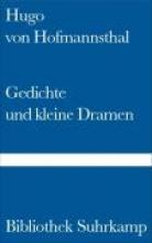 Hofmannsthal, Hugo von Gedichte und kleine Dramen