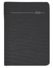 ALPHA EDITION Wochen-Minitimer Silk Line Onyx 2019 - Bürokalender A6