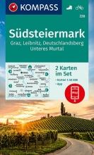 KOMPASS-Karten GmbH , KOMPASS Wanderkarte Südsteiermark, Graz, Leibnitz, Deutschlandsberg, Unteres Murtal (2-K-Set)