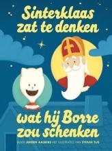 Jeroen  Aalbers Sinterklaas zat te denken wat hij Borre zou schenken