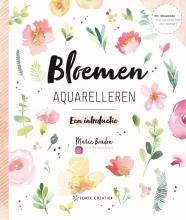 Marie Boudon , Bloemen aquarelleren