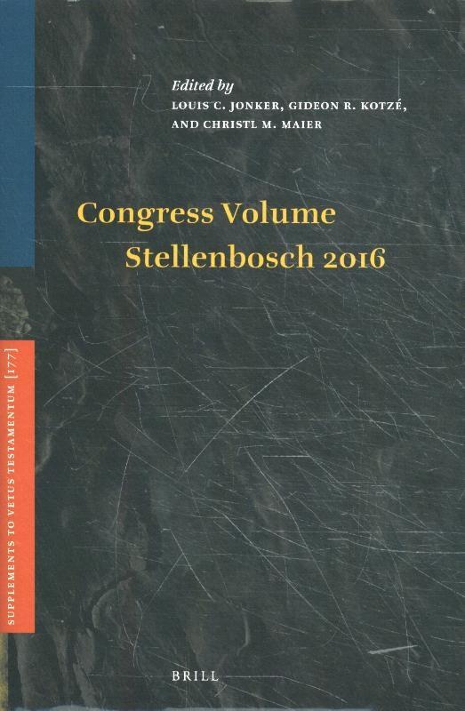 ,Congress Volume Stellenbosch 2016