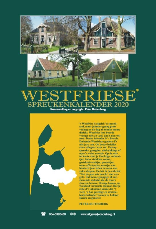 ,Westfriese spreukenkalender 2020