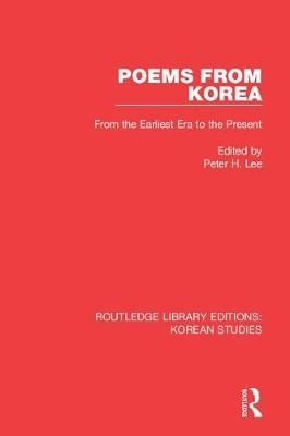 Peter H. Lee,Poems from Korea
