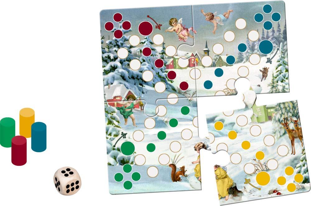 ,Kerst puzzel-spel mens erger je niet