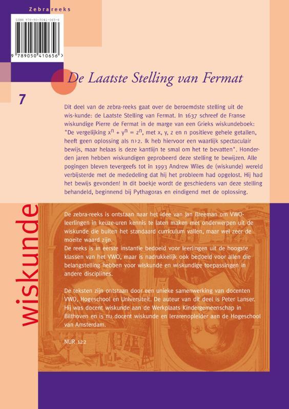 P. Lanser,De Laatste Stelling van Fermat