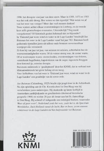 Jan Buisman,Duizend jaar weer, wind en water in de Lage Landen 1 tot 1300