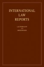 Lauterpacht, Elihu International Law Reports, Volume 144