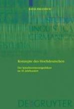 Katja Faulstich Konzepte des Hochdeutschen